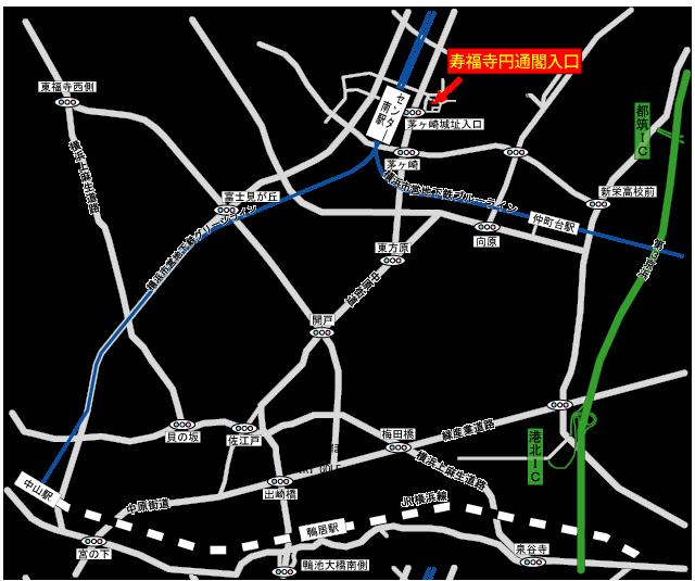 寿福寺園通閣(寿福寺円通閣)アクセス地図